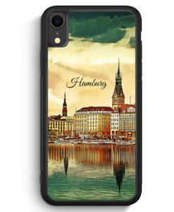 iPhone XR Silikon Hülle - Panorama Hamburg