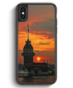 iPhone X & iPhone XS Silikon Hülle - Panorama Kiz Kulesi Istanbul