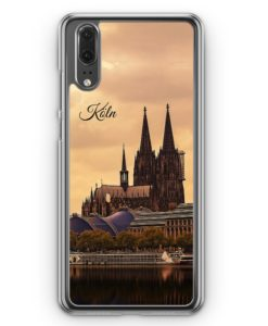 Huawei P20 Hülle Hardcase - Panorama Köln Kölner Dom