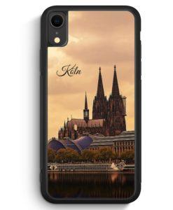 iPhone XR Silikon Hülle - Panorama Köln Kölner Dom