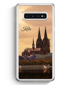 Samsung Galaxy S10+ Plus Hardcase Hülle - Panorama Köln Kölner Dom