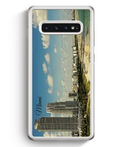 Samsung Galaxy S10+ Plus Hardcase Hülle - Panorama Miami
