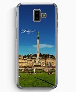 Samsung Galaxy J6+ Plus (2018) Hardcase Hülle - Panorama Stuttgart