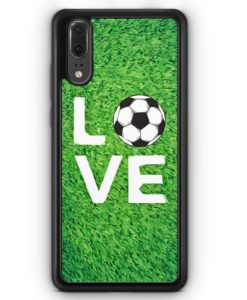 Huawei P20 Hülle Silikon - Love Fußball Rasen