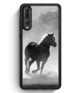 Huawei P20 Pro Hülle Silikon - Pferd Grau Foto