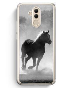 Huawei Mate 20 Lite Hardcase Hülle - Pferd Grau Foto