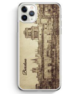 iPhone 11 Pro Max Hardcase Hülle - Vintage Panorama Barcelona