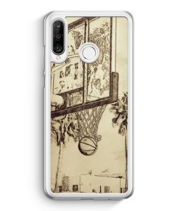 Huawei P30 Lite Hardcase Hülle - Vintage Basketball