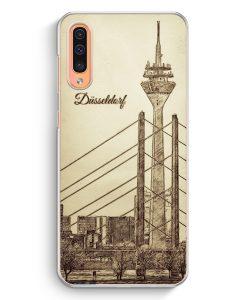 Samsung Galaxy A50 Hardcase Hülle - Vintage Panorama Düsseldorf