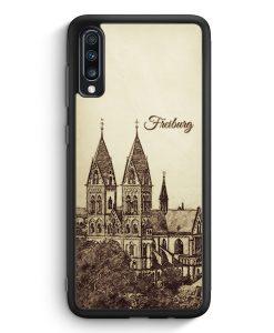 Samsung Galaxy A70 Silikon Hülle - Vintage Panorama Freiburg