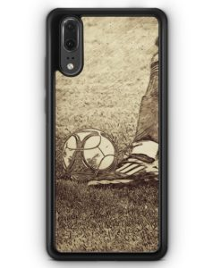 Huawei P20 Hülle Silikon - Vintage Fußball Schuss