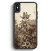 iPhone X & iPhone XS Silikon Hülle - Vintage Coole Giraffe