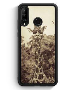 Huawei P30 Lite Silikon Hülle - Vintage Coole Giraffe
