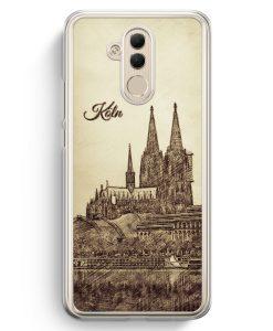 Huawei Mate 20 Lite Hardcase Hülle - Vintage Panorama Köln Kölner Dom