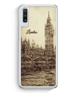 Samsung Galaxy A70 Hardcase Hülle - Vintage Panorama London Big Ben