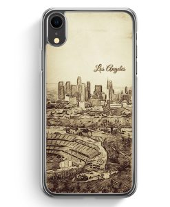 iPhone XR Hardcase Hülle - Vintage Panorama Los Angeles