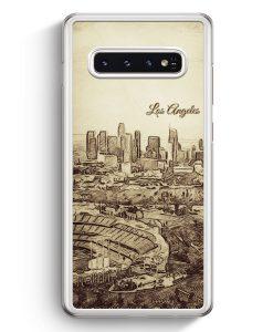 Samsung Galaxy S10+ Plus Hardcase Hülle - Vintage Panorama Los Angeles