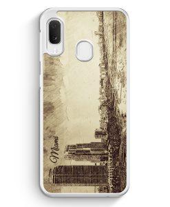 Samsung Galaxy A20e Hardcase Hülle - Vintage Panorama Miami