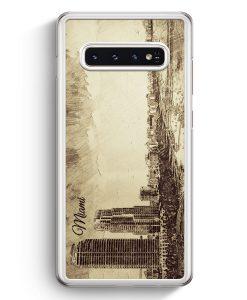 Samsung Galaxy S10+ Plus Hardcase Hülle - Vintage Panorama Miami
