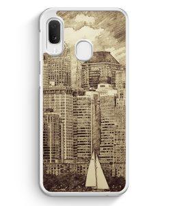 Samsung Galaxy A20e Hardcase Hülle - Vintage Panorama New York