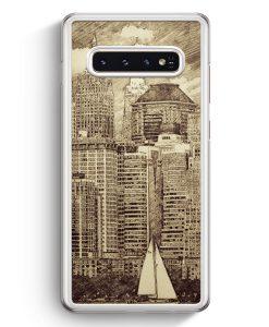 Samsung Galaxy S10+ Plus Hardcase Hülle - Vintage Panorama New York