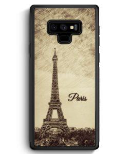 Samsung Galaxy Note 9 Hülle Silikon - Vintage Panorama Paris Eiffelturm