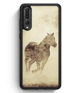 Huawei P20 Pro Hülle Silikon - Vintage Pferd