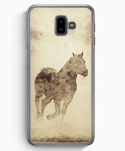 Samsung Galaxy J6+ Plus (2018) Hardcase Hülle - Vintage Pferd