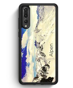 Huawei P20 Pro Hülle Silikon - Panorama Alpen Berge