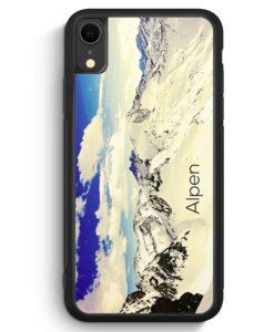 iPhone XR Silikon Hülle - Panorama Alpen Berge