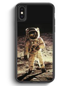 iPhone X & iPhone XS Silikon Hülle - Astronaut auf Mond