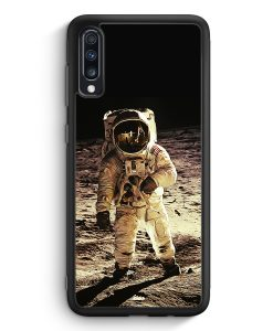 Samsung Galaxy A40 Silikon Hülle - Astronaut auf Mond