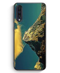 Samsung Galaxy A50 Silikon Hülle - Berge Landschaft