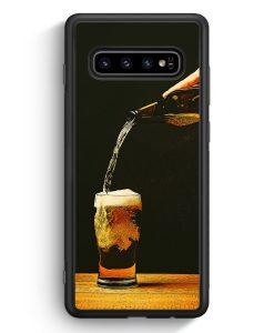 Samsung Galaxy S10 Silikon Hülle - Bierglas Bier
