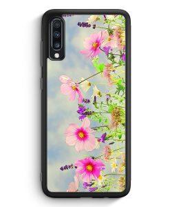 Samsung Galaxy A40 Silikon Hülle - Blumen Landschaft Rosa