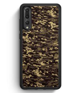 Huawei P20 Pro Hülle Silikon - Camouflage Grün