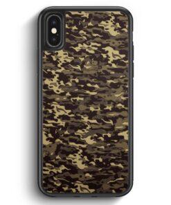 iPhone X & iPhone XS Silikon Hülle - Camouflage Grün