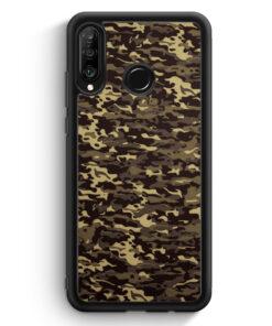 Huawei P30 Lite Silikon Hülle - Camouflage Grün