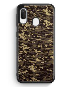 Samsung Galaxy A20e Silikon Hülle - Camouflage Grün