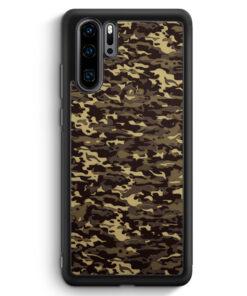 Huawei P30 Pro Silikon Hülle - Camouflage Grün