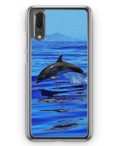 Huawei P20 Hülle Hardcase - Delfin Delphin Meer