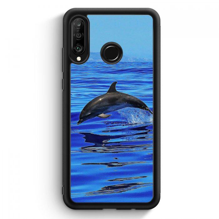 Huawei P30 Lite Silikon Hülle - Delfin Delphin Meer
