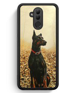 Huawei Mate 20 Lite Silikon Hülle - Doberman Hund