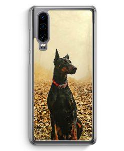 Huawei P30 Hardcase Hülle - Doberman Hund