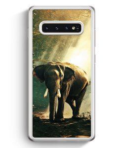 Samsung Galaxy S10+ Plus Hardcase Hülle - Elefant Foto Front