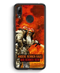 Huawei Y7 (2019) Silikon Hülle - Andere Rennen Raus - Wir Rennen Rein Feuerwehr