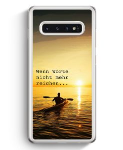 Samsung Galaxy S10+ Plus Hardcase Hülle - Wenn Worte Nicht mehr Reichen Kayak Kanu
