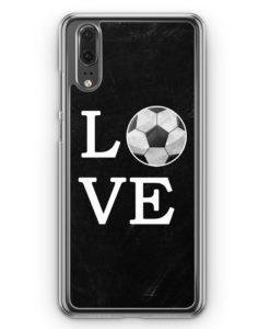 Huawei P20 Hülle Hardcase - Love Fußball
