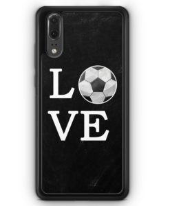 Huawei P20 Hülle Silikon - Love Fußball