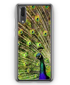 Huawei P20 Hülle Hardcase - Pfau Peacock
